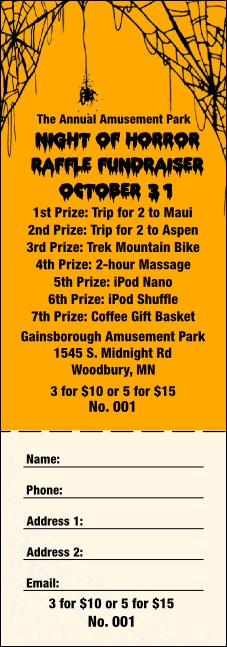 Spider Web Raffle Ticket 002