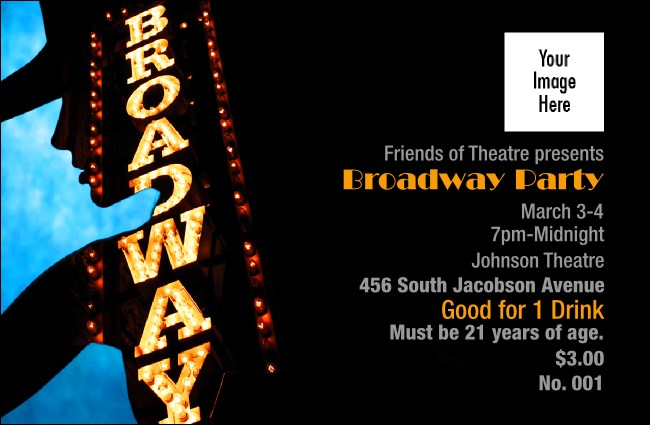 Broadway Drink Ticket Product Front