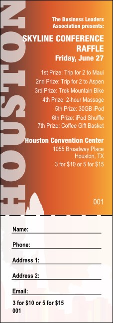 Houston Raffle Ticket