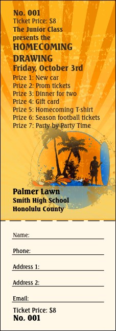 Hawaii Raffle Ticket