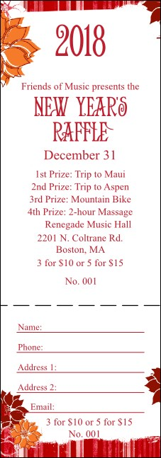 Winter Raffle Ticket
