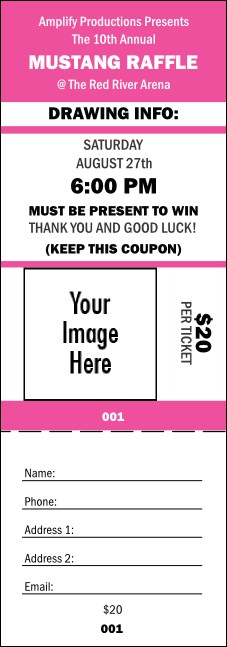 Your Image Raffle Ticket 001 (Pink)