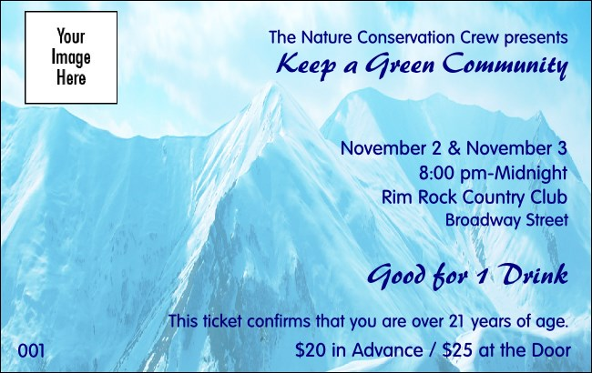 Nature Series - Mountain Drink Ticket