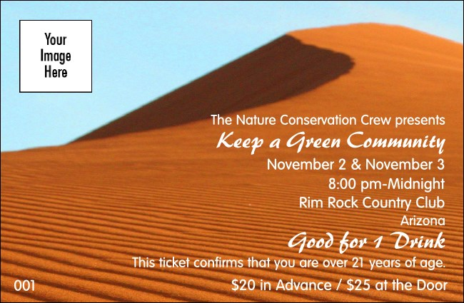 Nature Series - Desert Drink Ticket