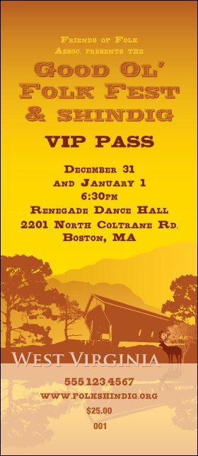 West Virginia VIP Pass