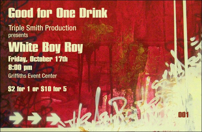 Hip Hop Red Drink Ticket Product Front
