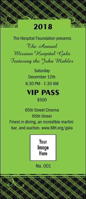 Year Gala Plaid Green VIP Pass