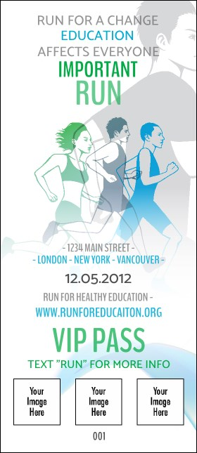 Run for a Cause Blue & Green VIP Pass
