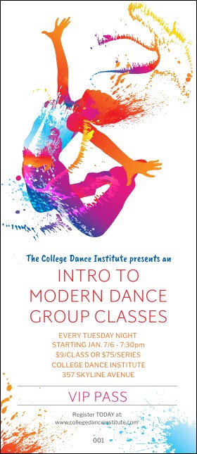 Modern Dance White VIP Pass