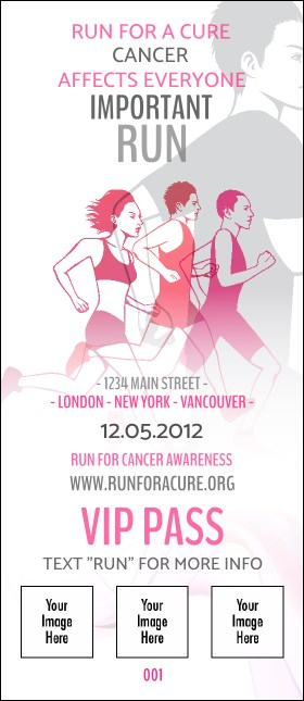 Run for a Cause Pink VIP Pass