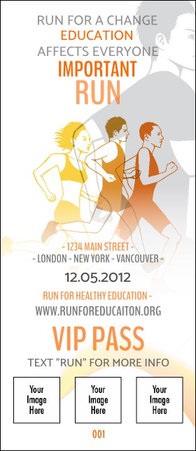 Run for a Cause Orange VIP Pass