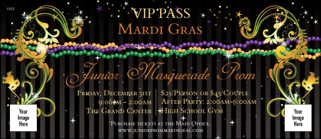 Mardi Gras Beads VIP Pass Product Front
