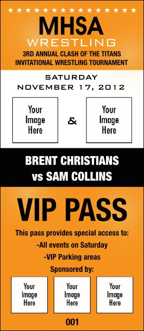 Versus Orange VIP Pass