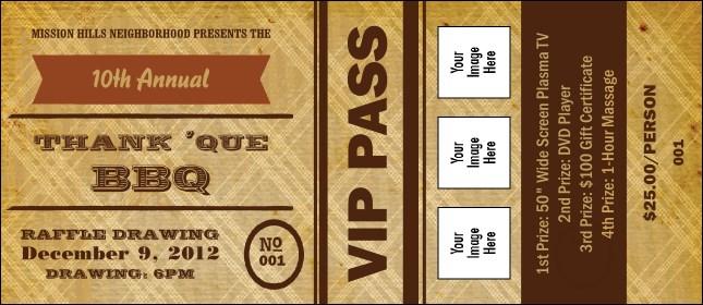 bbq ticket template