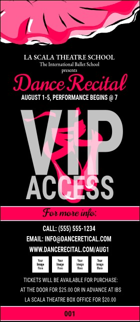 Dance Recital VIP Pass