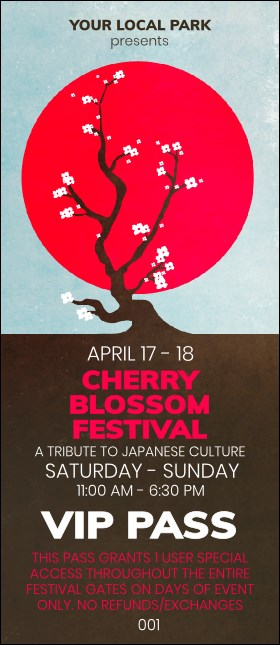 Cherry Blossom Circle VIP Pass