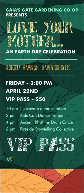 Earth Day Organic VIP Pass