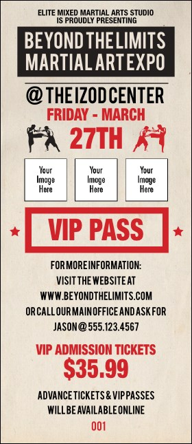 MMA Old School VIP Pass Product Front