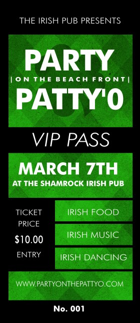 St. Patrick's Day Plaid VIP Pass