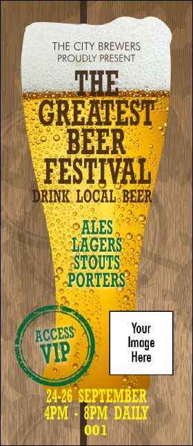 Beer Festival VIP Pass Product Front