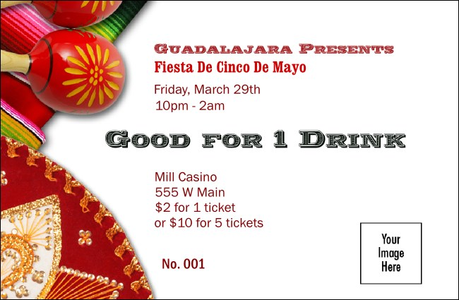 Fiesta Drink Ticket Product Front