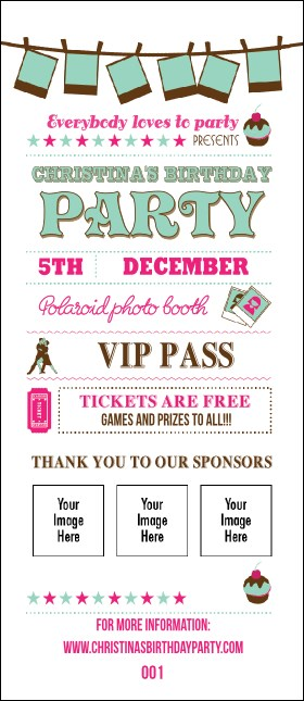 Birthday Whimsical  VIP Pass