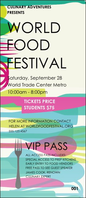World Food Festival VIP Pass