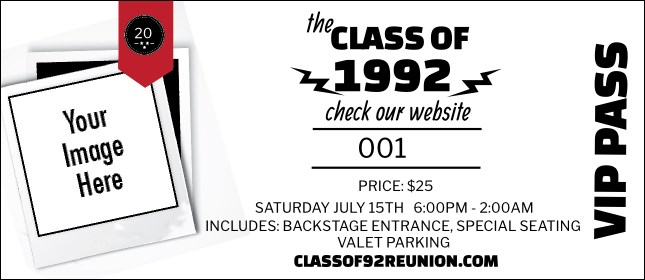 Class Reunion Mascot Red VIP Pass