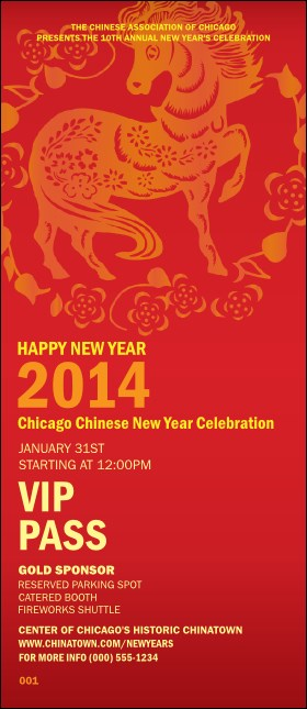 Chinese New Year VIP Pass