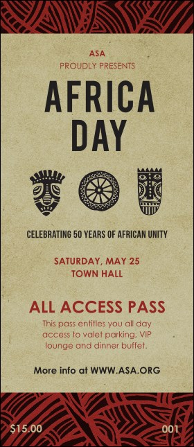 African Theme VIP Pass