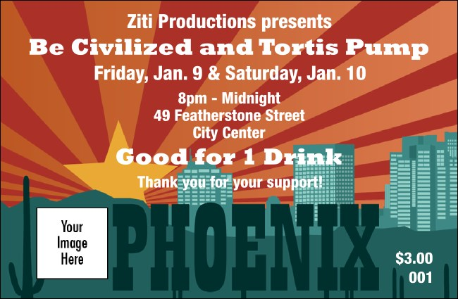 Phoenix Drink Ticket Product Front