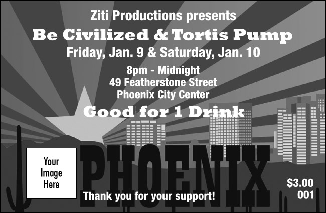 Phoenix BW Drink Ticket