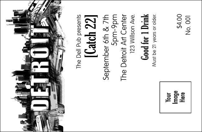 Detroit BW Drink Ticket