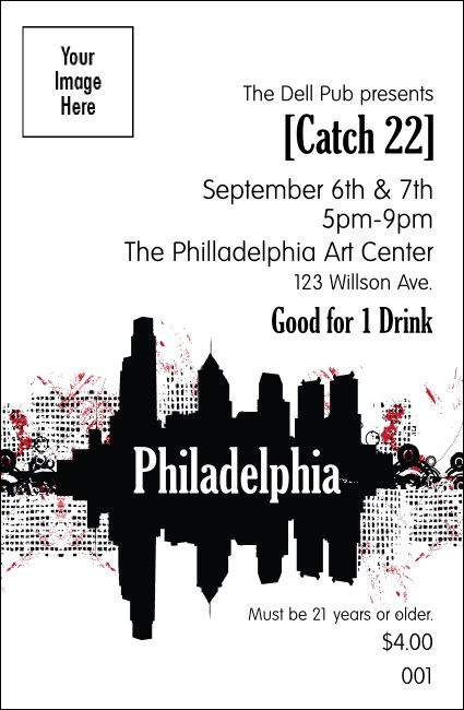 Philadelphia drink ticket