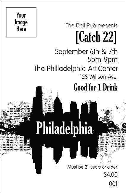 Philadelphia BW drink ticket