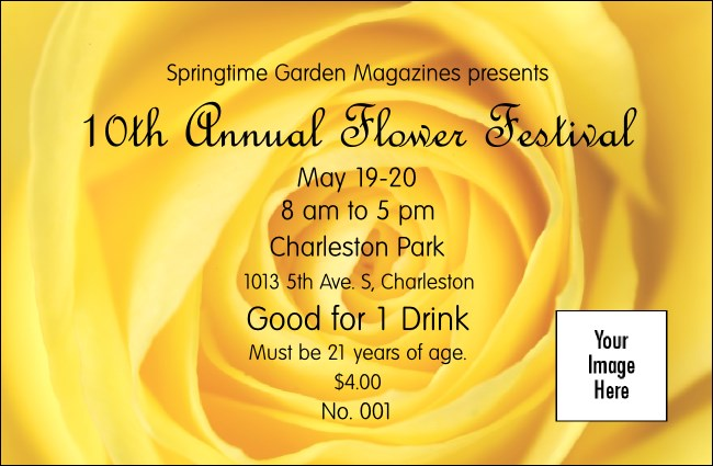 Yellow Rose Drink Ticket