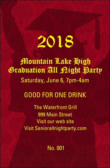 Cap and Gown Drink Ticket