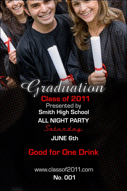Graduation Diploma Drink Ticket