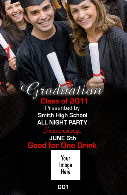 Graduation Diploma Drink Ticket Logo