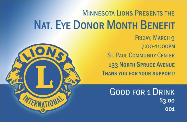 Lions Club International Drink Ticket 002