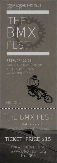 BMX Event Ticket