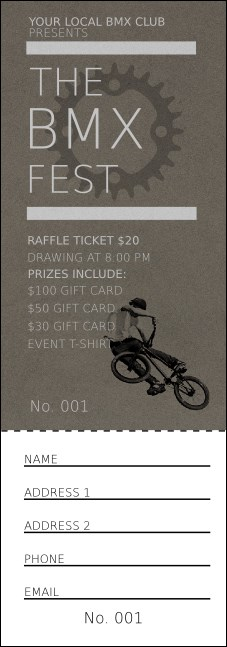 BMX Raffle Ticket