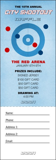 Curling Raffle Ticket