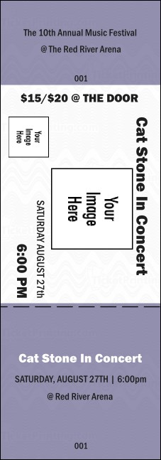 All Purpose Big Logo Purple 2 Event Ticket Product Front