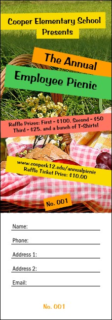 Picnic 2 Raffle Ticket