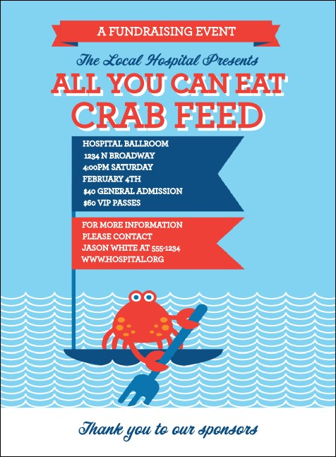 Crab Feed Invitation