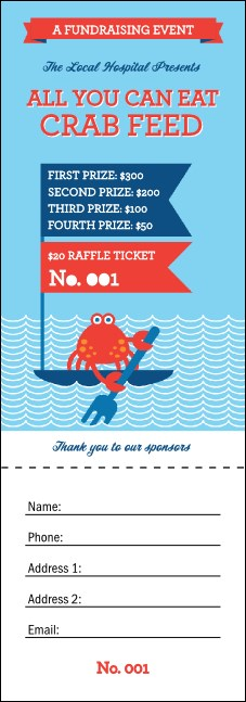 Crab Feed Raffle Ticket