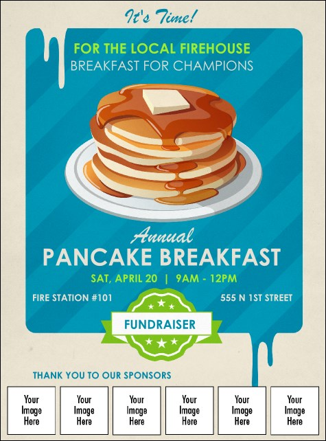 Pancake Stack Logo Flyer Product Front