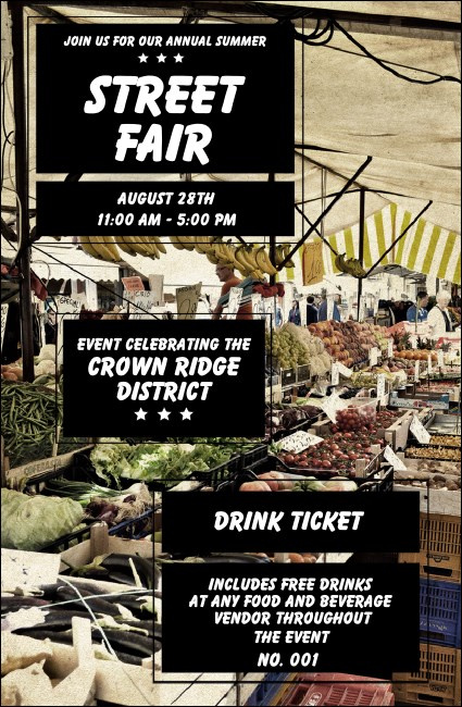 Street Fair Market Drink Ticket