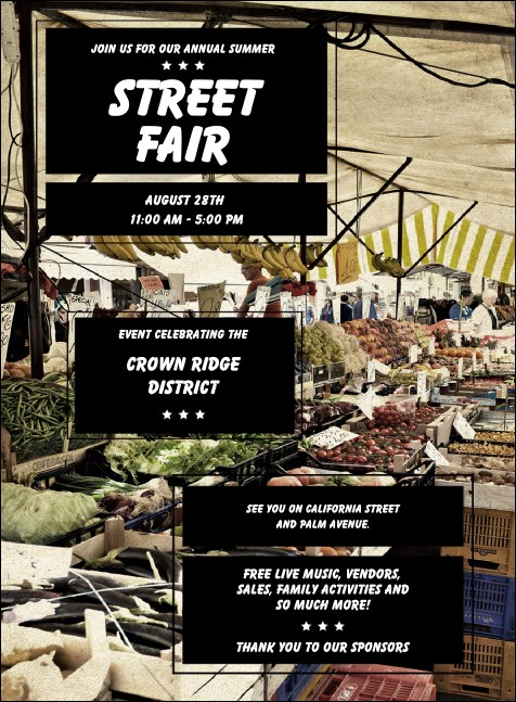 Street Fair Market Invitation Product Front